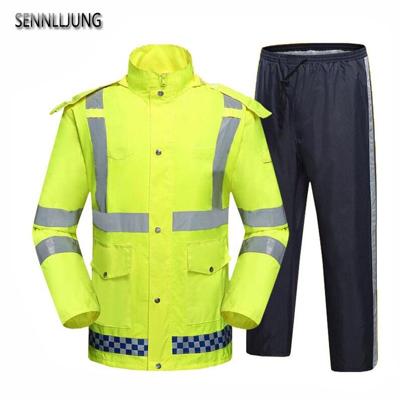 SENNLLJUNG Imperméable Pantalon de pluie Étanche Moto Vélo Pluie Veste Costume Poncho Table Taille Grand Taille De Pêche Imperméable