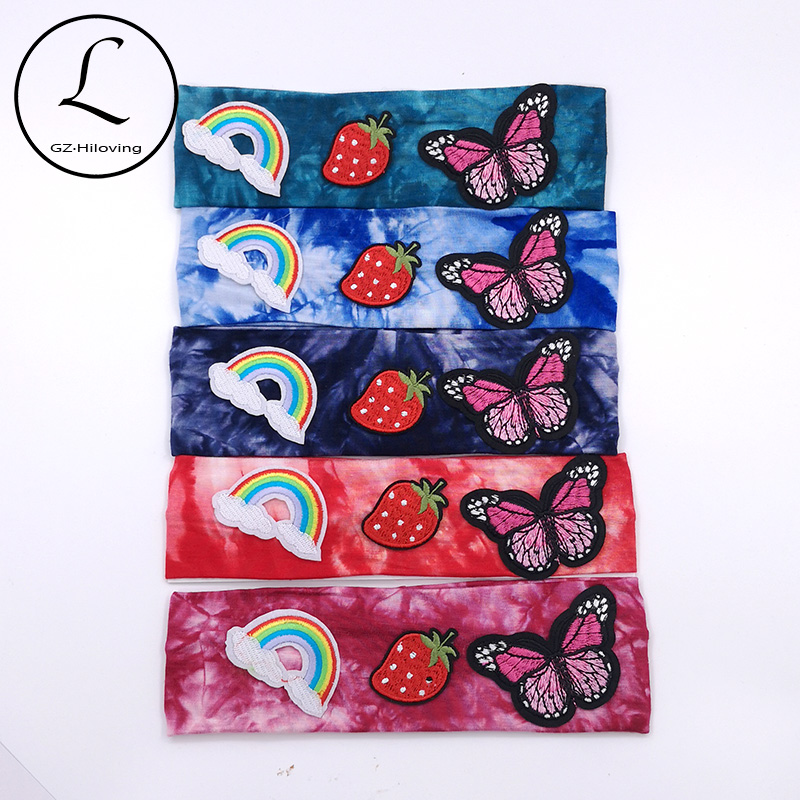 Baby Girls Tie Dye Cotton Lycra Headbands Summer Soft