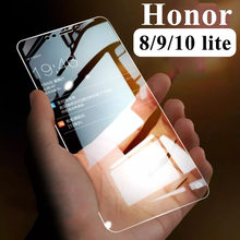 Protective glass on for Huawei honor 8 9 10 lite light screen protector honer 9lite 8lite 10lite honer9 honer10 honer8 tempered(China)