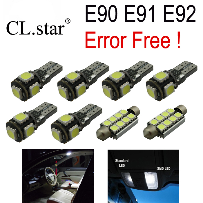15pc X Error free E90 E91 E92 LED Interior Light Kit for bmw  3 series 325i 328i 330i 335i M3 (2006-2012) canbus h7 led car headlight error free headlamp fog light for bmw e90 m3 m 320d 320i 318i 325i 328i 330d 330i 3 series 2005 2017