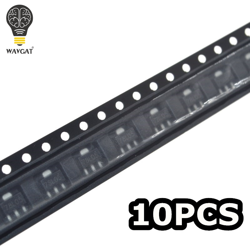 WAVGAT 10PCS 78L05 <font><b>5V</b></font> SOT-89 <font><b>SMD</b></font> three terminal <font><b>voltage</b></font> <font><b>regulator</b></font> <font><b>voltage</b></font> stabilizer Good quality and ROHS image