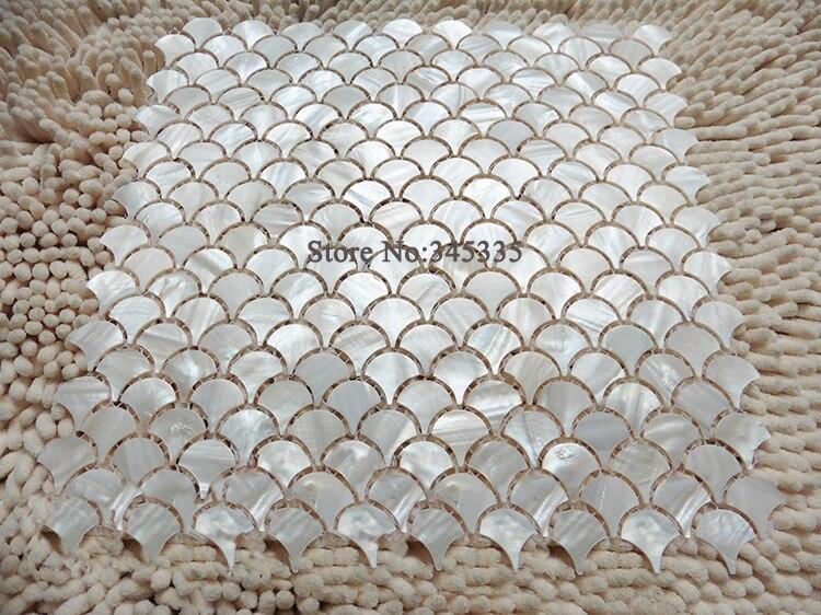 Online get cheap fan mosaic tile alibaba for Fish scale wallpaper