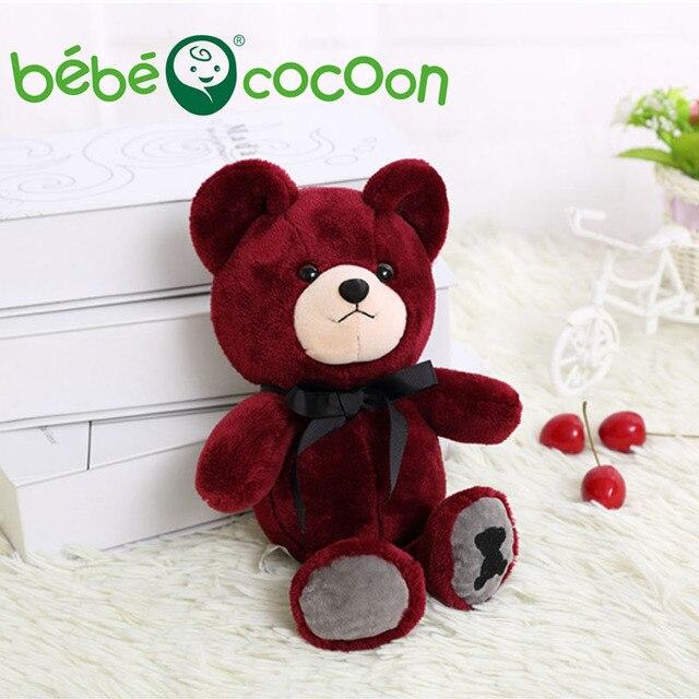 bebecocoon 25CM Kawaii Teddy Bear Plush Toy Stuffed Bears Doll Soft Kids Toys Baby Sleeping Dolls Children Girls Gifts Set