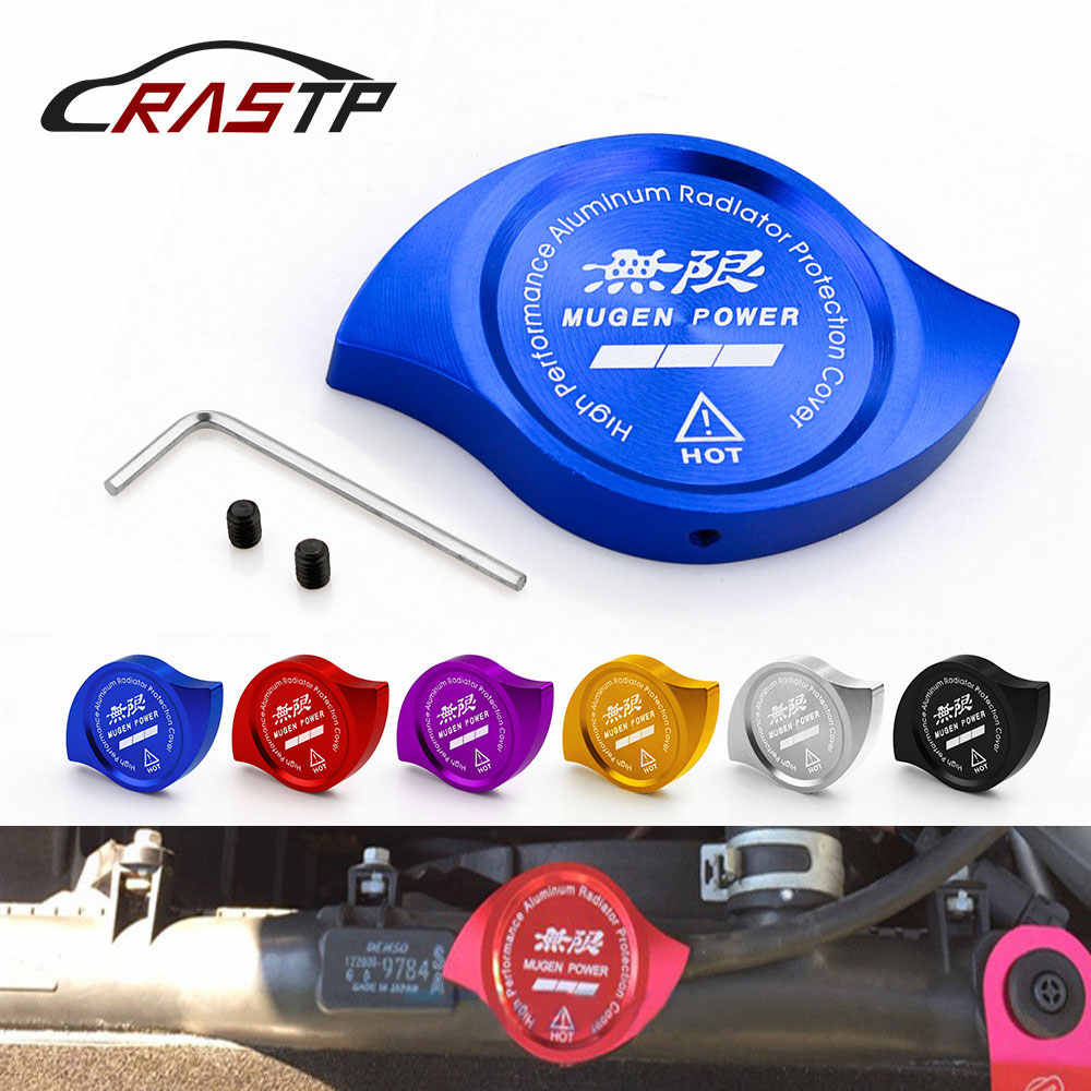 Tampa do radiador de alumínio da rastp-azul adequada para honda accord civic CR-V CR-Z crx city RS-CAP007