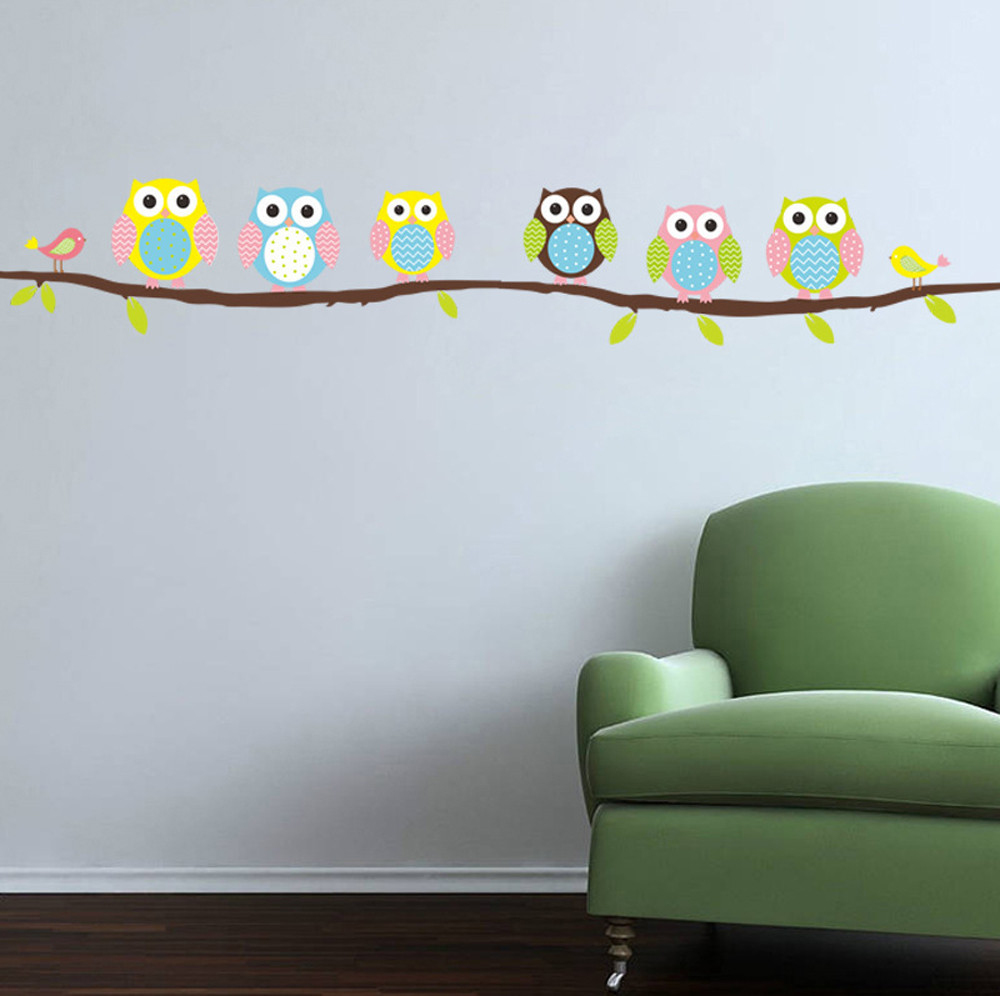 online get cheap romance wall aliexpress com alibaba group hot sale 3d non toxic wall stickers romance ation wall poster home animal cartoon owl