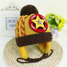 Five-pointed Star Autumn Baby Cap Knitted Warm Wool Beanie Hat for Toddler Baby Kids Girl Boy Baby Winter Hats