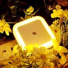 Auto LED Light Induction Sensor Control Bedroom Night Lights Bed Lamp US EU Plug 110V-250V 0.5W