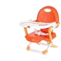 Многофункциональный Пластик свет Портативный складной детские обеденный стул регулировать высоту и тарелку подачи стол стул для детей