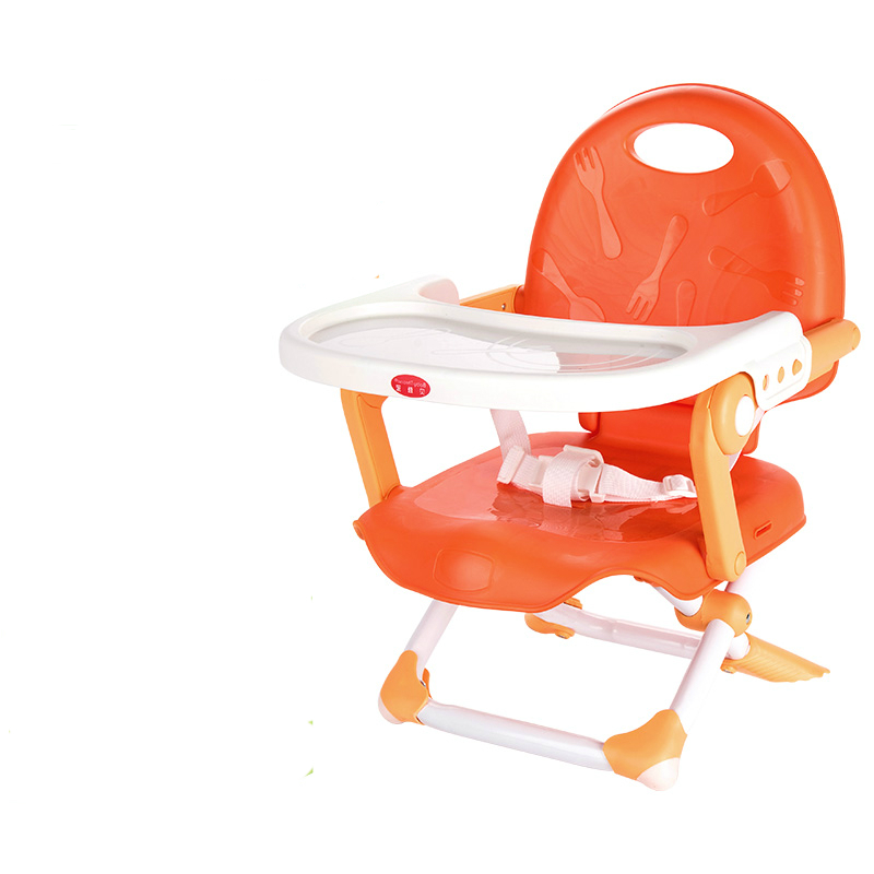 Multifunctional Plastic Light Portable Folding Baby Dining Chair Adjust Height and Dinner Plate Feed Table Chair for Children free shipping children eat chair the portable folding multi function plastic baby chairs and tables for dinner