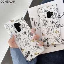 DCHZIUAN For Samsung Galaxy S10 S8 S9 Plus Phone Case Cute Cartoon Line Paint Back Cover Note 8 9