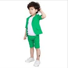 2019 Summer Boys Blazer Suit Kids Cotton Jacket+Pants 2 piec