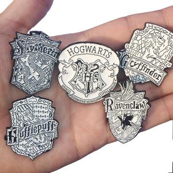 Брошка Гарри Поттер черно-белая