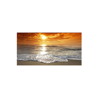 100x200cm Sunsets Natural Sea Beach Landscape Posters and Prints Canvas Painting Scandinavian Wall Art Picture for Living Room