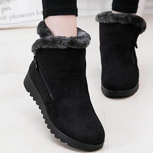 Новый Дизайн женская зимняя обувь Модные ботыльоны 2017 плоская подошва Утепленная одежда уютный Женские зимние ботинки