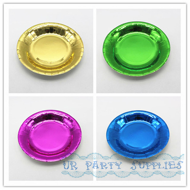 Free Shipping 40pcs Metallic Gold/Green/Purple/Blue Plates Metallic Foil Paper Plates  sc 1 st  AliExpress.com & Free Shipping 40pcs Metallic Gold/Green/Purple/Blue Plates Metallic ...
