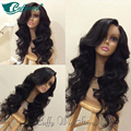 4X4 Silk Top Lace Front Wig Natural Wave Glueless Long Wavy Silk Top Lace Front Human Hair Wigs Natural Hairline For Black Women