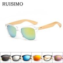 16 color Wood Sunglasses Men women square bamboo Women for women men Mirror Sun Glasses retro de sol masculino 2016 Handmade