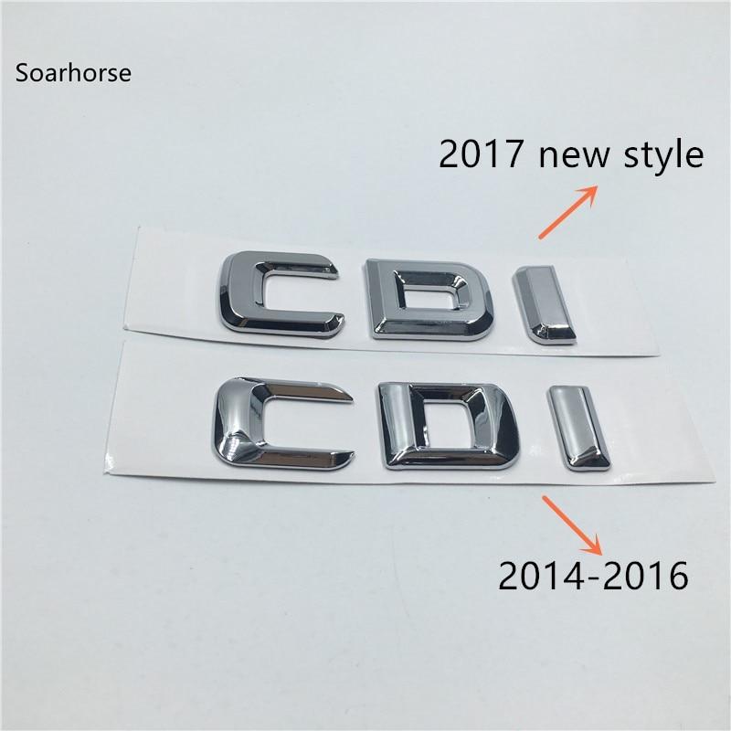 Soarhorse New Styling For Mercedes Benz CDI AMG 4 Matic Car Rear Trunk Letters Badge Emblem Stickers emblem