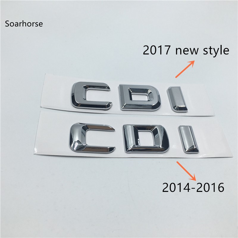 Soarhorse New Styling For Mercedes Benz CDI AMG 4 Matic Car Rear Trunk Letters Badge Emblem Stickers car styling for mercedes benz g series w460 w461 w463 g230 g300 g350 chrome number letters rear trunk emblem badge sticker
