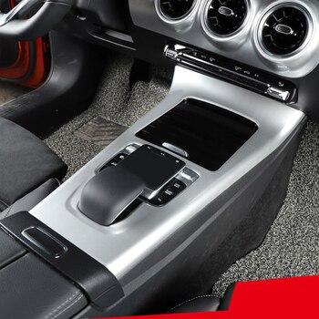 Decoración de la consola Interior de Diseño del coche panel de palanca de cambios decoración marco recortado 1 Uds para mercedes-benz Clase A W177 2019