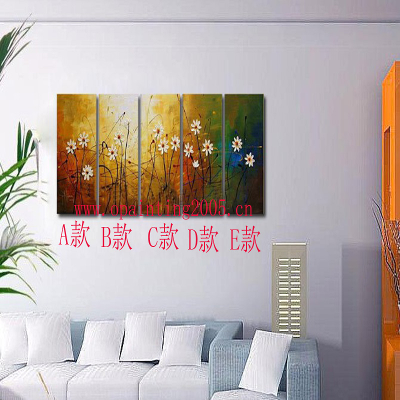 New 2013home Decorative Painting Flower Little Daisy Hot In World100 Hand Painted Modern Oil Painting Hotel Home Decorative