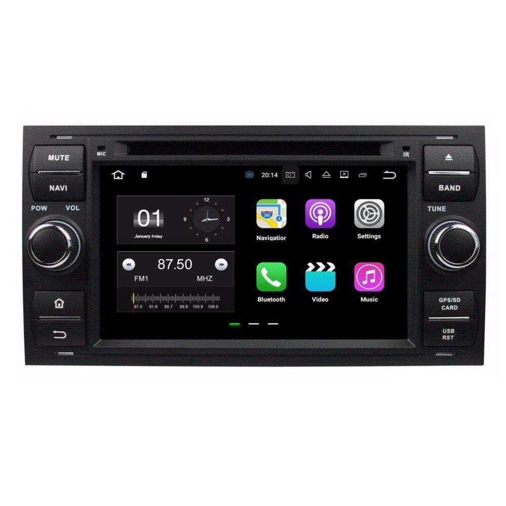 2 DIN 7 «Android 7.1 автомобилей Радио DVD GPS Мультимедиа Автомагнитолы для Ford Focus Mondeo S-MAX C-MAX Galaxy fiesta Форма слитная подключения
