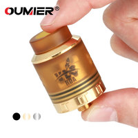 Original OUMIER VLS RDA 1 5ml Rebuildable Tank Support Single Coil And Dual Coils Building W