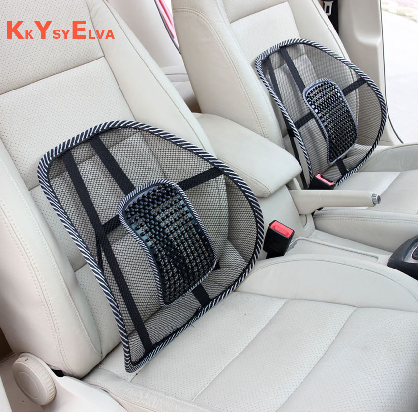 KYSYELVA Summer Seat Support Car Covers Mesh Lumbar Support Office Home Car Seat Cushion Car styling Car Seat Back Support