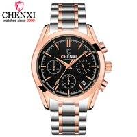 CHENXI Men Luxury Brand Watch Men S Quartz Waterproof Wristwatch Man Multi Functional Fashion Quartz Wristwatches