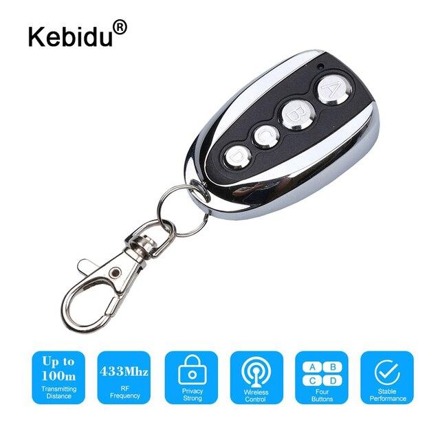 Kebidu Mini 4 canaux télécommande 433.92MHz ABCD clé contrôle duplicateur Code roulant pour voiture pour la maison