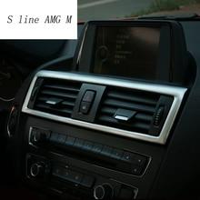 Для bmw F20 F21 стайлинга автомобилей интерьера спереди воздухокондиционер выход декоративная рамка Крышка отделка 1 серии 116i 118i автомобильные аксессуары