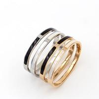 ニュー·ローズゴールドカラーステンレス鋼長いシェルクリスタルブレスレット腕輪