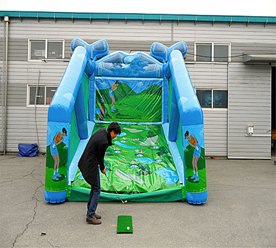 Outdoor PVC commercial inflatable golf  shot inflatable golf game with free blower ,inflatable sport games for kids Outdoor PVC commercial inflatable golf  shot inflatable golf game with free blower ,inflatable sport games for kids