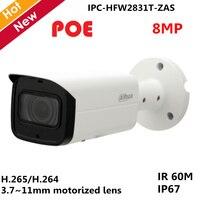 Original Dahua English With logo IP Camera IPC HFW2831T ZAS 8mp H.265 3.7~11mm Variable lens POE and SD card slot 128G Video cam