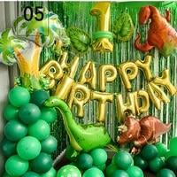 Boy Birthday Party Dinosaur Decoration Set Green Balloon Party Backdrop Birthday Balloons