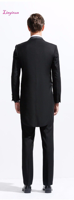 Costume Linyixun Robe Blazer Nouvelle Mode Mariage As D'affaires 2018 Costumes Hommes Ensemble De Formelle Pic Smoking Morale Masculin zBzrq