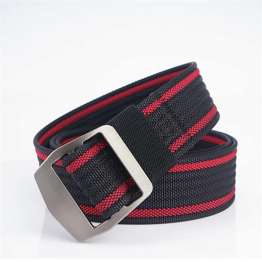 Нейлоновый мужской ремень многоцветной регулируемый ремень для брюк повседневные тактические ремни с пряжкой из сплава мужской походный ремень на талию