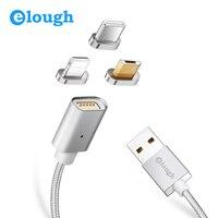 Elough E04 3 в 1 Mult Магнитный кабель для iPhone samsung Xiaomi Быстрая зарядка магнит зарядное устройство Micro usb Тип C телефон USB кабель