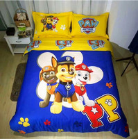 3d paw patrol bedding set girl boy baby 100% cotton duvet cover twin single full queen king size cartoon dog bed clothes sheet