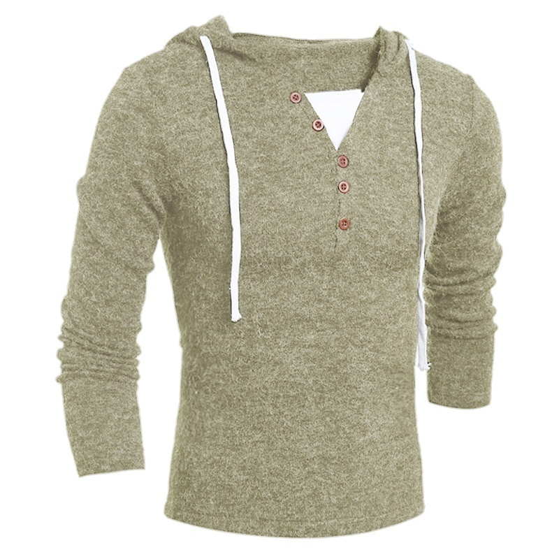 ZOGAA Brand Geek New Men's Sweaters Fashion Design Solid Hooded Knit Sweater Coat Men Clothes Slim Fit Pullovers Sweater Men