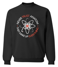 novelty science sweatshirt adult Never Trust an Atom 2017 spring winter fashion men hoodies fleece high quality brand clothing
