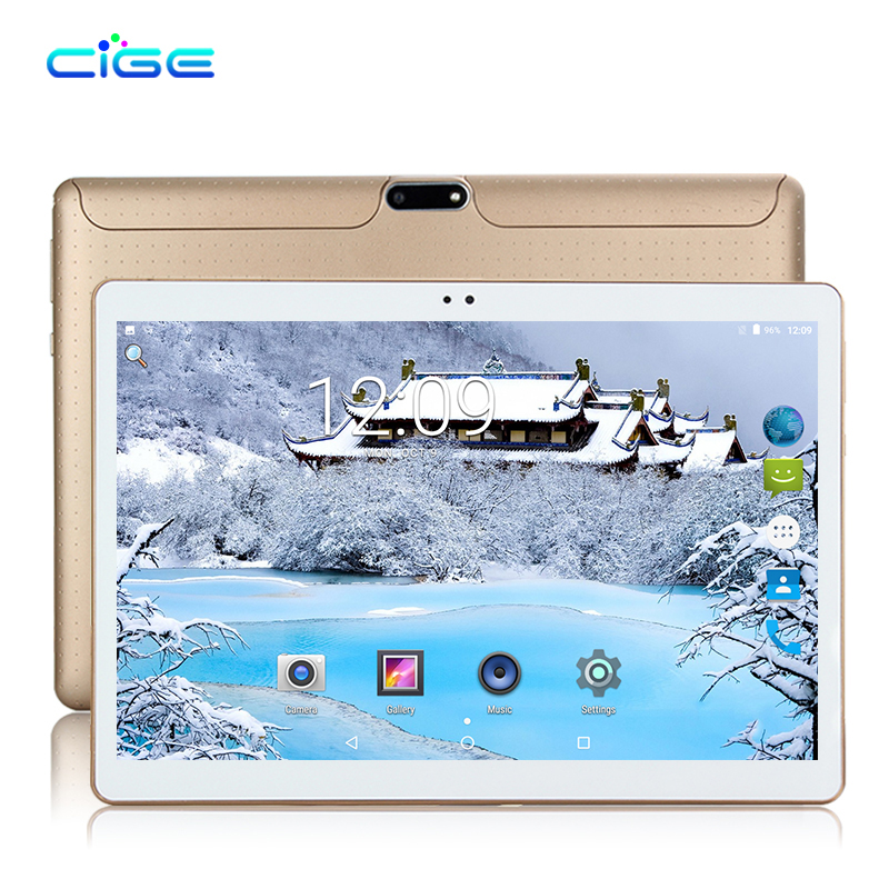CIGE newest 10.1 Inch Newest Original 3G phone tablets Quad Core tablets Android 7.0 tablet 2GB RAM 16GB ROM GPS Tablet pc WIFI свитшот print bar cs go hyper beast black style