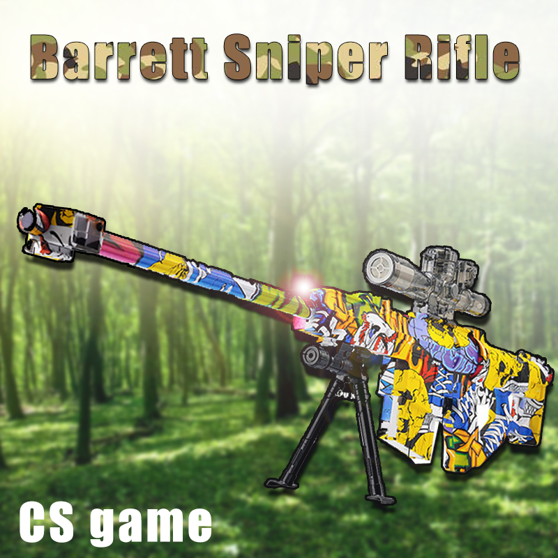 Barrett Sniper Rifle Graffiti Live CS Game Electric Shooting airsoft pistol Toy Gun Outdoor Fun Sports Toy Guns airsoft air guns