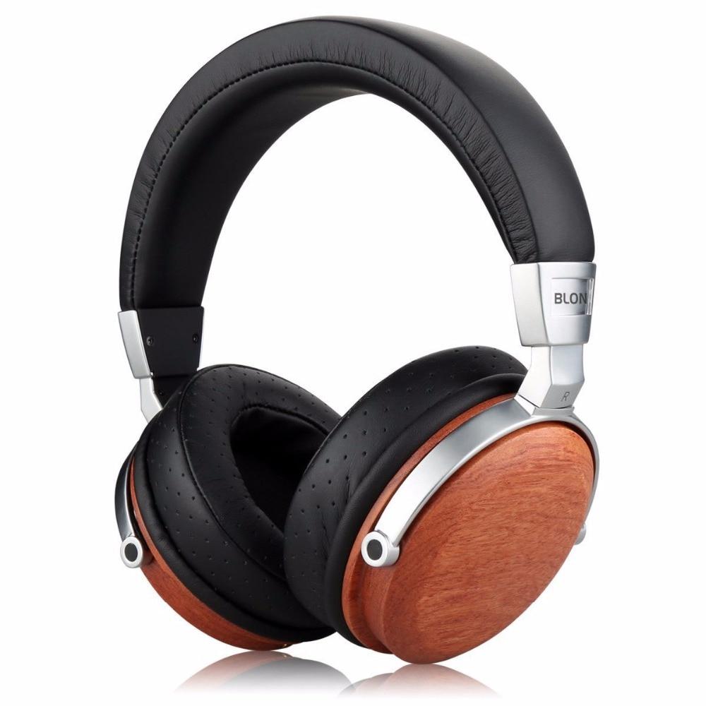 2018 New BLON B7S BossHifi HiFi Music Wooden Headphones 50mm Speaker Noise Cancelling Active Monitor Studio