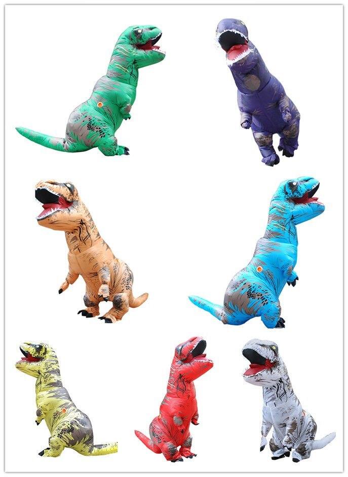 220CM T-Rex Dinosauro Gonfiabile Della Mascotte Costume Party Fancy Dress Cosplay natale VESTIRE Abiti Di Natale Halloween очки солнцезащитные mascotte mascotte ma702dwsjl01