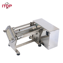 Купить с кэшбэком ITOP Electric French Fry Cutters Slicers Potato Carrot Cutting Machine Vegetable Fruit Tools With 6/9/13MM Blade