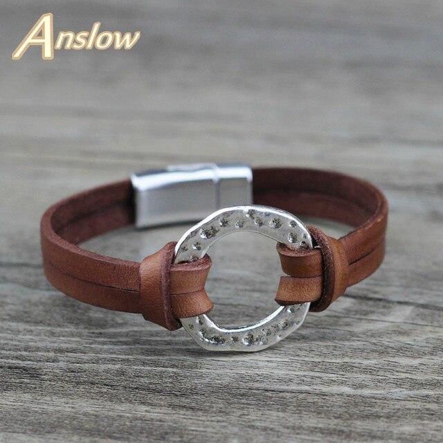 Мужские браслеты из кожи с магнитной застёжкой