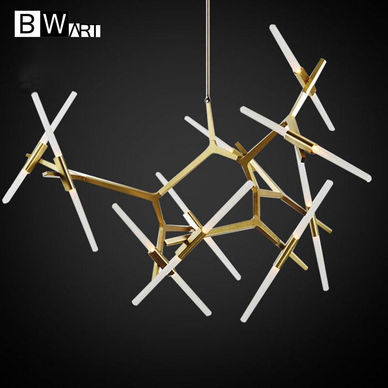 BWART Living Dinning Room Bedroom <font><b>Pendant</b></font> lustre Chandelier Light Fixtures Modern Loft Hanging Chandelier Lamp Luminaria Avize