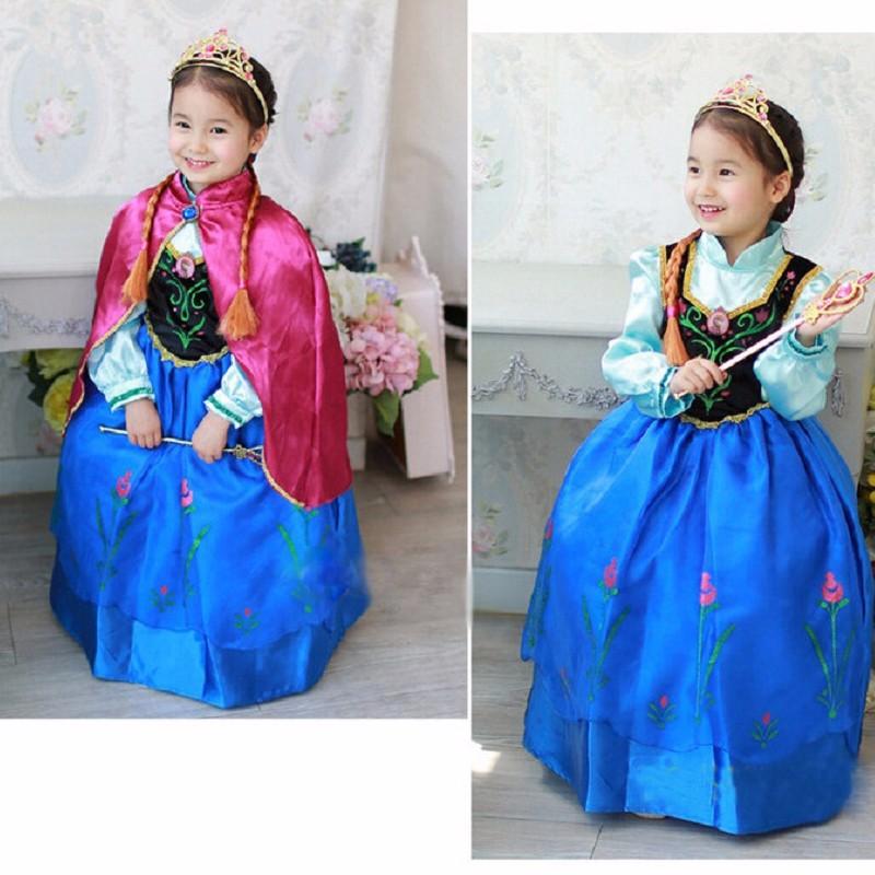 2015-top-quality-baby-toddler-girl-dress-princess-vestidos-infantis-congelados-anna-elsa-fever-dress-diamond (2)