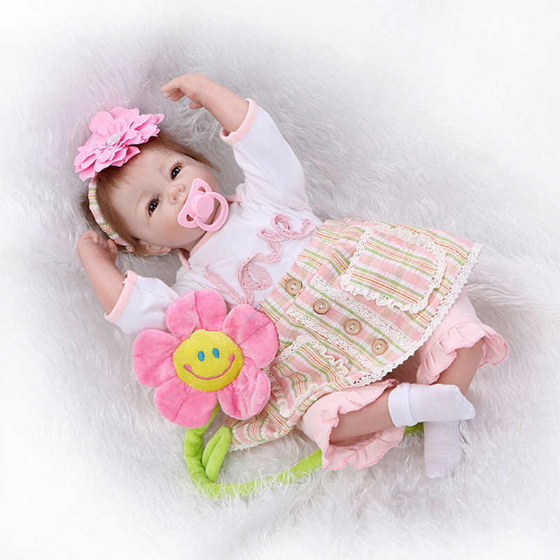 Newborn Silicone Bebe Reborn Girls Dolls Lifelike Vinyl Girls Babies Birthday Gift Present for Child Early Education Bedtime Toy soft silicone reborn baby dolls toys for girls lifelike birthday present gifts cute newborn boy babies bedtime play house toy